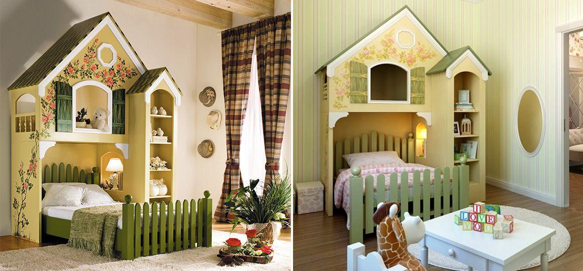 Детская кровать домик из дерева Magic Homes