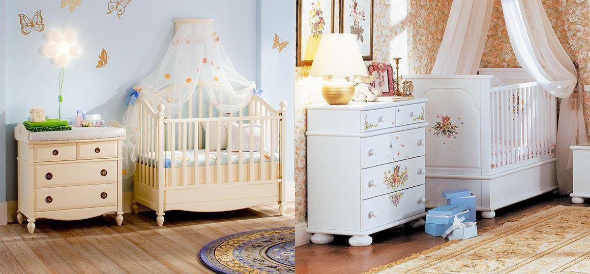 Красивая мебель для новорожденных из массива дерева