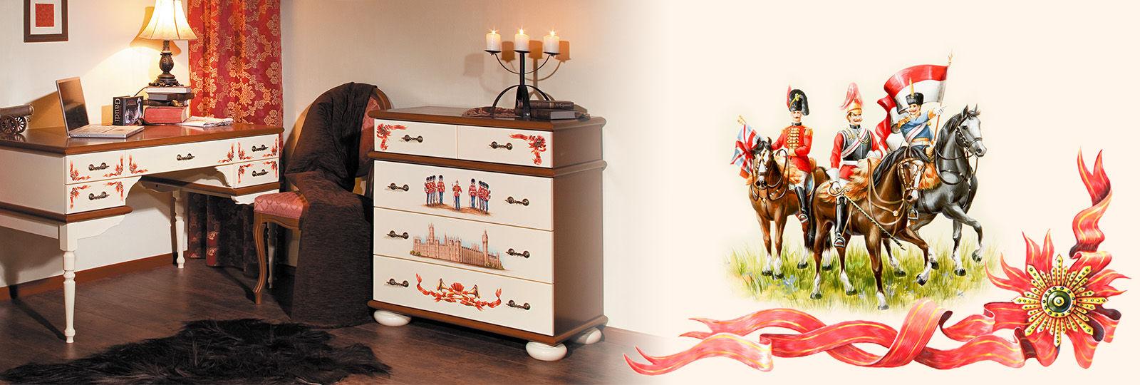 Комоды из дерева с росписью от Woodright для детей любого возраста
