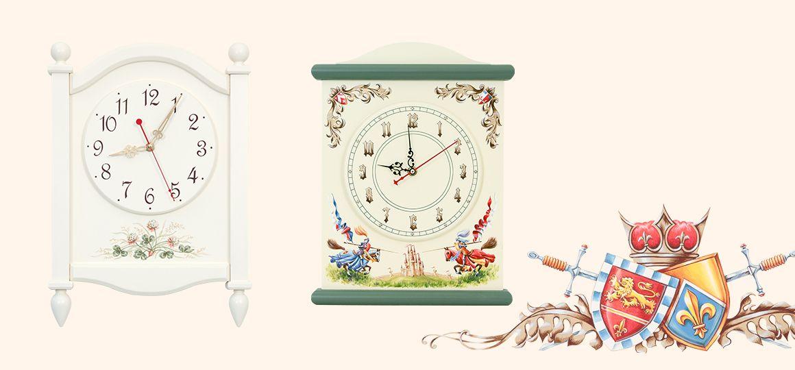 Детские настенные часы из дерева – это красивая деталь детской комнаты