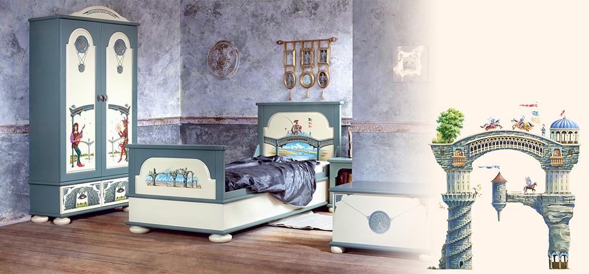 Детский гарнитур классической мебели для мальчиков
