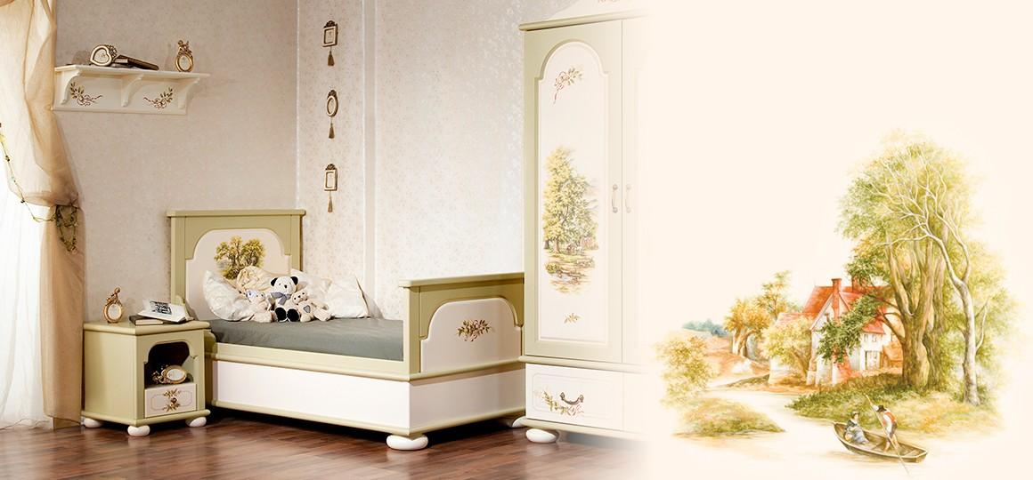 Односпальные кровати из массива дерева – экологичное место для сна